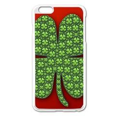 Shamrock Irish Ireland Clover Day Apple iPhone 6 Plus/6S Plus Enamel White Case