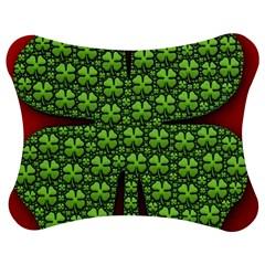 Shamrock Irish Ireland Clover Day Jigsaw Puzzle Photo Stand (Bow)
