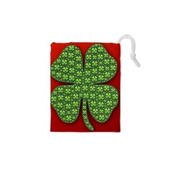 Shamrock Irish Ireland Clover Day Drawstring Pouches (xs)