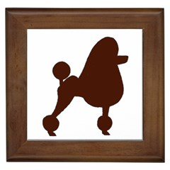 Poodle Brown Silo Framed Tiles