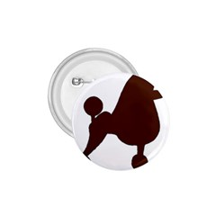 Poodle Brown Silo 1.75  Buttons