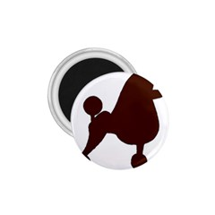 Poodle Brown Silo 1.75  Magnets