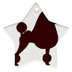 Poodle Brown Silo Ornament (Star)
