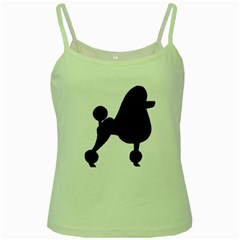 Poodle Brown Silo Green Spaghetti Tank