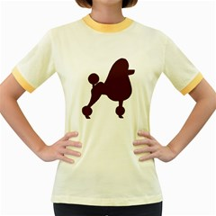 Poodle Brown Silo Women s Fitted Ringer T-Shirts