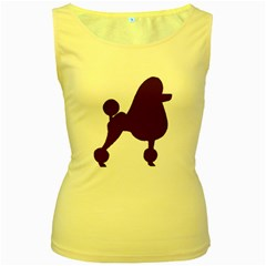 Poodle Brown Silo Women s Yellow Tank Top