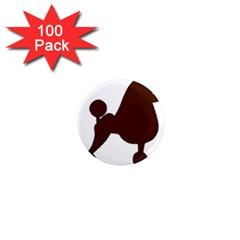 Poodle Brown Silo 1  Mini Magnets (100 pack)