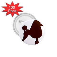 Poodle Brown Silo 1.75  Buttons (100 pack)