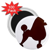 Poodle Brown Silo 2.25  Magnets (100 pack)