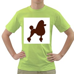 Poodle Brown Silo Green T-Shirt