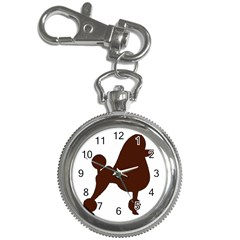 Poodle Brown Silo Key Chain Watches