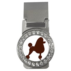 Poodle Brown Silo Money Clips (CZ)