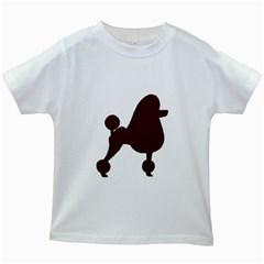 Poodle Brown Silo Kids White T-Shirts