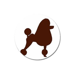 Poodle Brown Silo Magnet 3  (Round)