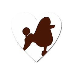 Poodle Brown Silo Heart Magnet