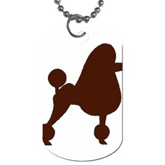 Poodle Brown Silo Dog Tag (One Side)