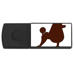 Poodle Brown Silo USB Flash Drive Rectangular (2 GB)
