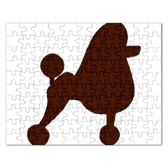 Poodle Brown Silo Rectangular Jigsaw Puzzl