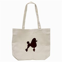 Poodle Brown Silo Tote Bag (Cream)