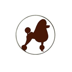 Poodle Brown Silo Hat Clip Ball Marker (10 pack)