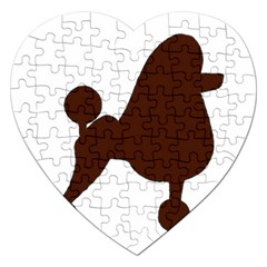 Poodle Brown Silo Jigsaw Puzzle (Heart)