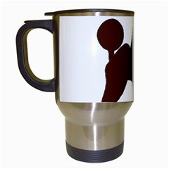 Poodle Brown Silo Travel Mugs (White)