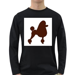 Poodle Brown Silo Long Sleeve Dark T-Shirts