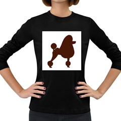 Poodle Brown Silo Women s Long Sleeve Dark T-Shirts