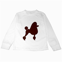 Poodle Brown Silo Kids Long Sleeve T-Shirts