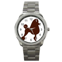 Poodle Brown Silo Sport Metal Watch