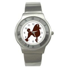 Poodle Brown Silo Stainless Steel Watch