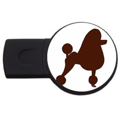 Poodle Brown Silo USB Flash Drive Round (4 GB)