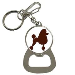 Poodle Brown Silo Button Necklaces
