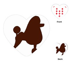 Poodle Brown Silo Playing Cards (Heart)