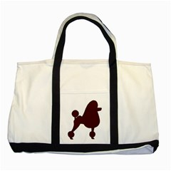 Poodle Brown Silo Two Tone Tote Bag