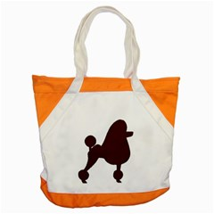 Poodle Brown Silo Accent Tote Bag