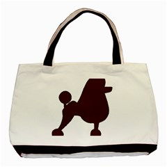 Poodle Brown Silo Basic Tote Bag (Two Sides)