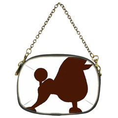 Poodle Brown Silo Chain Purses (Two Sides)