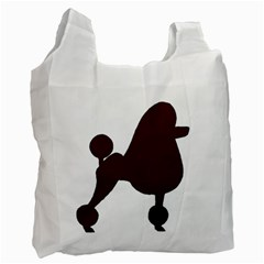 Poodle Brown Silo Recycle Bag (Two Side)