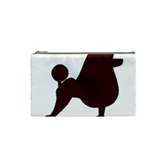 Poodle Brown Silo Cosmetic Bag (Small)