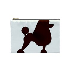 Poodle Brown Silo Cosmetic Bag (Medium)
