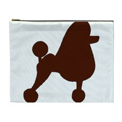 Poodle Brown Silo Cosmetic Bag (XL)