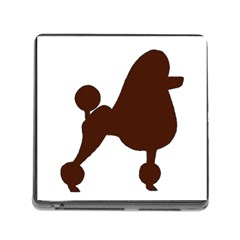 Poodle Brown Silo Memory Card Reader (Square)