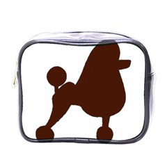 Poodle Brown Silo Mini Toiletries Bags