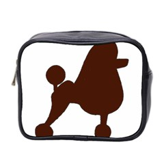Poodle Brown Silo Mini Toiletries Bag 2-Side