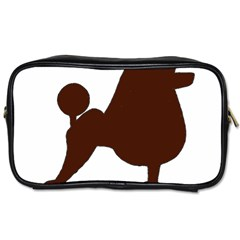 Poodle Brown Silo Toiletries Bags 2-Side
