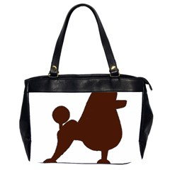 Poodle Brown Silo Office Handbags (2 Sides)