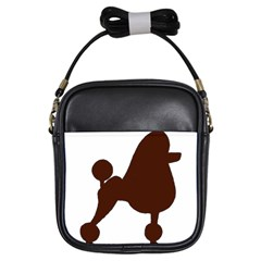 Poodle Brown Silo Girls Sling Bags