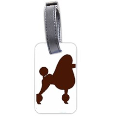 Poodle Brown Silo Luggage Tags (One Side)
