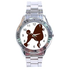Poodle Brown Silo Stainless Steel Analogue Watch